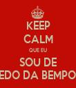 KEEP CALM QUE EU SOU DE PEREDO DA BEMPOSTA - Personalised Tea Towel: Premium