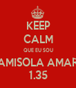KEEP CALM QUE EU SOU O CAMISOLA AMARELA 1.35 - Personalised Tea Towel: Premium