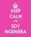 KEEP CALM QUE SOY INGENIERA - Personalised Tea Towel: Premium
