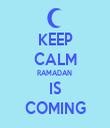 KEEP CALM RAMADAN  IS COMING - Personalised Tea Towel: Premium