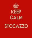 KEEP CALM  STOCAZZO  - Personalised Tea Towel: Premium