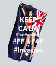 KEEP CALM @TeamRatedNext #FF #F4F #Invasion - Personalised Tea Towel: Premium