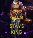 KEEP CALM THE KING STAYS KING - Personalised Tea Towel: Premium