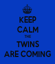 KEEP CALM THE TWINS ARE COMING - Personalised Tea Towel: Premium