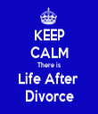 KEEP CALM There is Life After  Divorce - Personalised Tea Towel: Premium
