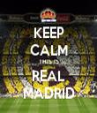 KEEP CALM THIS IS REAL MADRID - Personalised Tea Towel: Premium