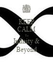 KEEP CALM To Infinity & Beyond - Personalised Tea Towel: Premium