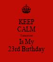 KEEP CALM Tomorrow Is My 23rd Birthday - Personalised Tea Towel: Premium