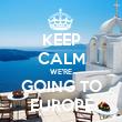 KEEP CALM WE'RE GOING TO EUROPE - Personalised Tea Towel: Premium
