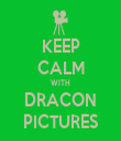 KEEP CALM WITH DRACON PICTURES - Personalised Tea Towel: Premium