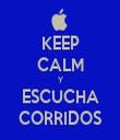 KEEP CALM Y ESCUCHA CORRIDOS - Personalised Tea Towel: Premium