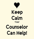 Keep Calm Your Counselor Can Help! - Personalised Tea Towel: Premium