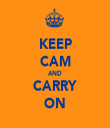 KEEP CAM AND CARRY ON - Personalised Tea Towel: Premium