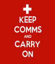 KEEP COMMS AND CARRY ON - Personalised Tea Towel: Premium