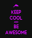 KEEP COOL AND BE AWESOME - Personalised Tea Towel: Premium