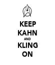 KEEP KAHN AND KLING ON - Personalised Tea Towel: Premium