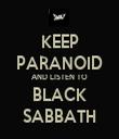 KEEP PARANOID AND LISTEN TO BLACK SABBATH - Personalised Tea Towel: Premium