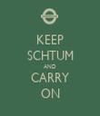 KEEP SCHTUM AND CARRY ON - Personalised Tea Towel: Premium