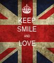 KEEP SMILE AND LOVE  - Personalised Tea Towel: Premium