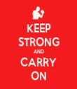 KEEP STRONG AND CARRY ON - Personalised Tea Towel: Premium