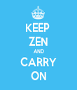 KEEP  ZEN AND CARRY ON - Personalised Tea Towel: Premium