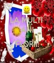 LA MULTI  ANI DE  FLORII!  - Personalised Tea Towel: Premium