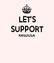 LET'S SUPPORT KRISDUSA   - Personalised Tea Towel: Premium