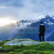 LIFE BEGINS AT THE END OF YOUR COMFORT ZONE  - Personalised Tea Towel: Premium