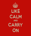 LIKE CALM AND CARRY ON - Personalised Tea Towel: Premium