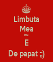 Limbuta Mea Nu  E De papat ;;) - Personalised Tea Towel: Premium
