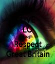 LIVE LO Laugh Respect Great Britain - Personalised Tea Towel: Premium
