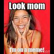 Look mom I'm on a meme! - Personalised Tea Towel: Premium