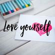 Love yourself - Personalised Tea Towel: Premium