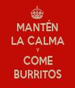 MANTÉN LA CALMA Y COME BURRITOS - Personalised Tea Towel: Premium