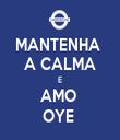 MANTENHA  A CALMA E AMO  OYE  - Personalised Tea Towel: Premium
