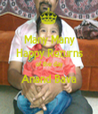 Many Many Happy Returns of the day Anand Bava  - Personalised Tea Towel: Premium