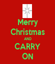Merry Christmas AND CARRY ON - Personalised Tea Towel: Premium