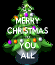 MERRY CHRISTMAS TO YOU ALL - Personalised Tea Towel: Premium