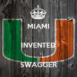 MIAMI  INVENTED  SWAGGER - Personalised Tea Towel: Premium