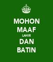 MOHON MAAF LAHIR DAN BATIN - Personalised Tea Towel: Premium