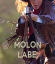 MOLON LABE! - Personalised Tea Towel: Premium