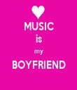 MUSIC is my BOYFRIEND  - Personalised Tea Towel: Premium