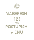 NABERESH' 125 AND POSTUPISH' v ENU - Personalised Tea Towel: Premium