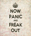 NOW PANIC AND FREAK OUT - Personalised Tea Towel: Premium
