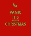 PANIC IT'S ALMOST CHRISTMAS  - Personalised Tea Towel: Premium