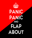 PANIC PANIC AND FLAP ABOUT - Personalised Tea Towel: Premium