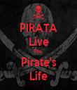 PIRATA Live The  Pirate's Life - Personalised Tea Towel: Premium
