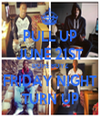 PULL UP JUNE 21ST DOPE BOYZ FRIDAY NIGHT TURN UP - Personalised Tea Towel: Premium