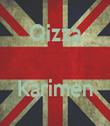 Qizza   Karimen  - Personalised Tea Towel: Premium