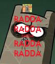 RADDA RADDA RADDA RADDA RADDA - Personalised Tea Towel: Premium